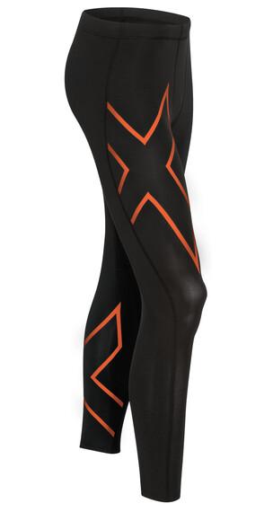 2XU TR2 Compression Tights Men Black/sunburst orange